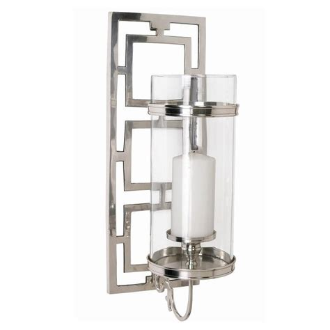 silver candle wall sconces arteriors wilson candle silver wall sconce