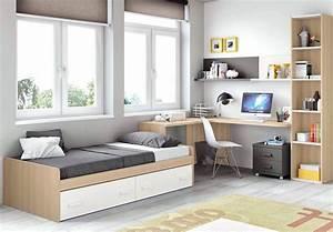 Chambre moderne ado et fun avec lit 2 coffres glicerio for Chambre ado garçon avec le meilleur matelas