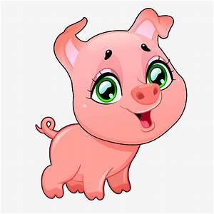 De dibujos animados lindo cerdito pintado a mano, Cartoon Piggy, Pintado A Mano De Lechones