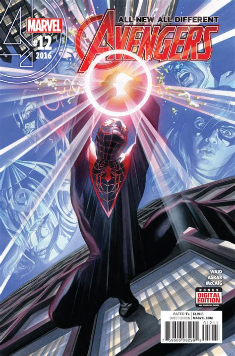 Allnew Alldifferent Avengers (2015) #12 Vfnm Alex Ross Miles Morales Cover