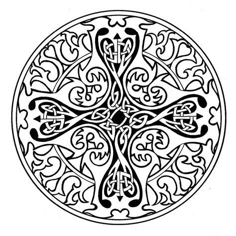 Pin Celtic Mandala Coloring Pages On Pinterest