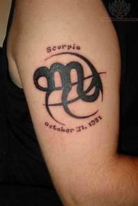 Scorpio Symbol Tattoos for Women   Scorpio Zodiac Symbol ...