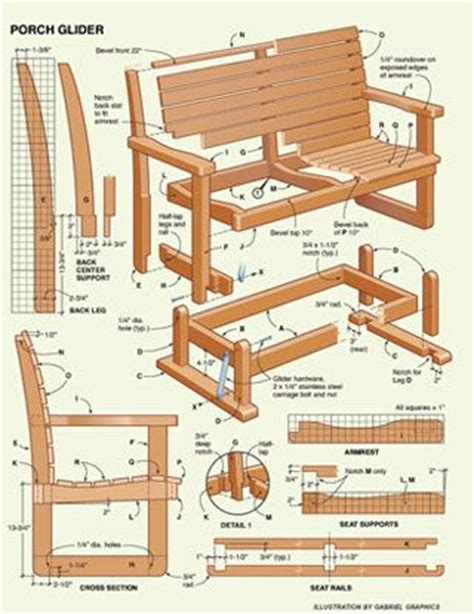 images  glider bench plans  pinterest