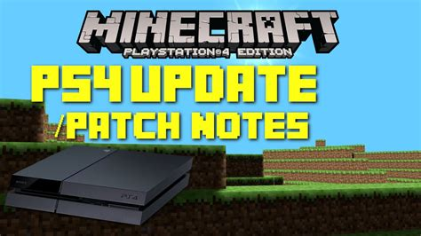 minecraft ps update patch notes bug fixes glitches