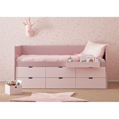 lit en hauteur avec canap lit enfant junior avec 6 tiroirs de rangement bahia block