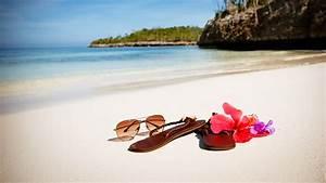 Images Flip-flops Beach Sea Nature Summer eyeglasses 2560x1440