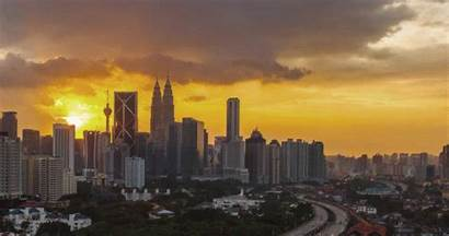Lights Sunset Gifs Singapore Wheel Landscape Ferris