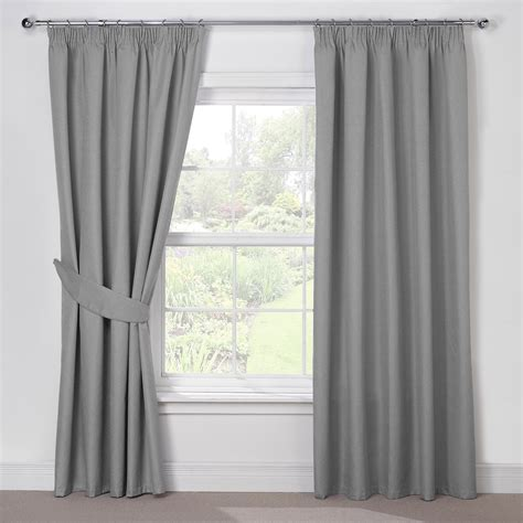 how should curtains be silver grey luxury thermal blackout pencil pleat