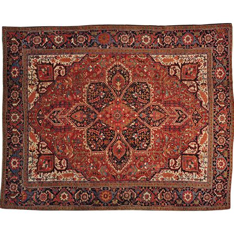 knotted wool rugs knotted antique heriz 11 x13 exc cond 100