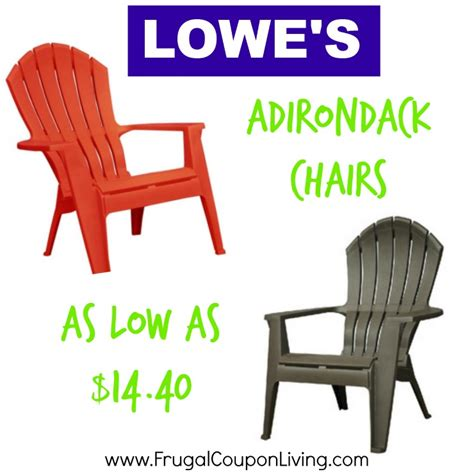 adirondack chairs as low as 14 40 at lowe s