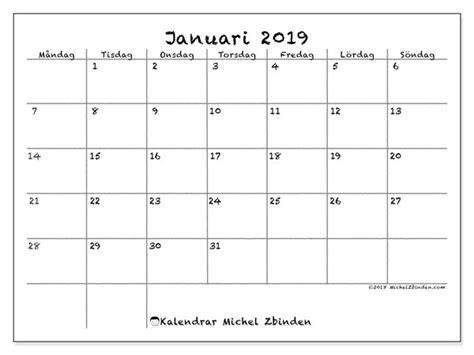 kalendrar januari ms michel zbinden sv