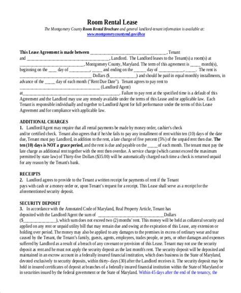 sample rental lease form   documents