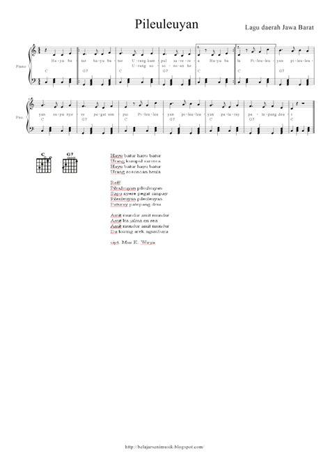 belajar seni musik pileuleuyan lagu daerah jawa barat