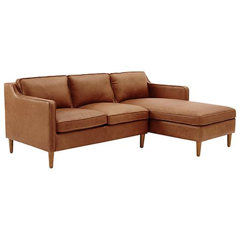 west elm hamilton leather sofa buy west elm hamilton leather sectional left loveseat rhf