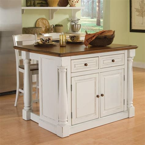 portable kitchen island with sink shop home styles white midcentury kitchen islands 2 stools