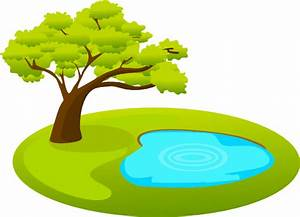Pond With Tree Clip Art at Clker.com - vector clip art ...