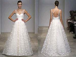 Top 10 illusion neckline wedding dresses onewed for Illusion top wedding dress
