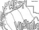 Coloring Pages Virginia West Iowa States United Doodle State Mountaineer Alley Printable Template Flag Flower Usa Sketch Open Penn Getcolorings sketch template