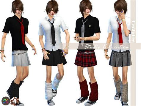 studio  creation men school uniform sims  downloads