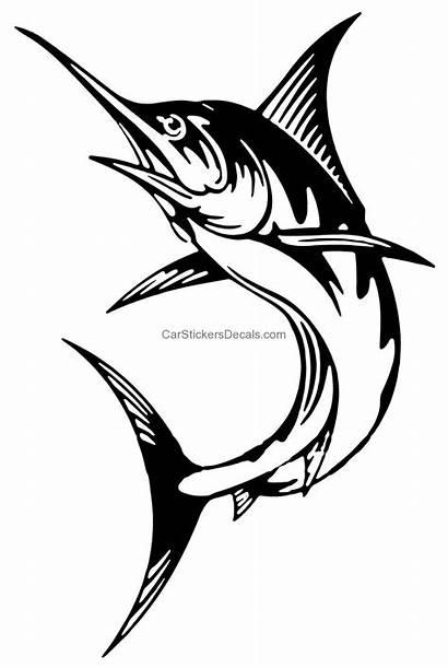 Marlin Sticker Fishing Stickers Decals Graphics