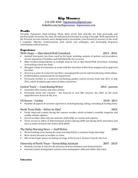 Journalist Resume Sle by Kip Mooney Revised Journalism Resume 2017
