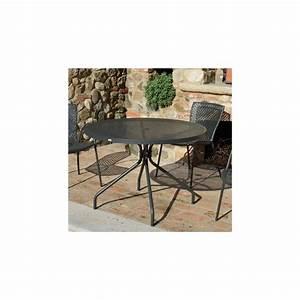 Table Ronde Jardin : table ronde de jardin estate 110 zendart design ~ Teatrodelosmanantiales.com Idées de Décoration