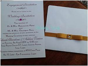 sample nigerian wedding invitation cards image collections With samples of wedding invitation cards wordings in nigeria