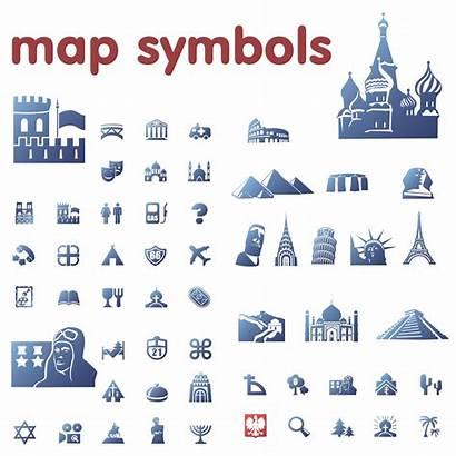 Symbols Map Legend Clipart Cliparts Clip Icons