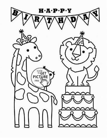 Coloring Birthday Happy Pages Funny Dad Printable