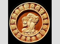 Mayan Calendar Plaster White Wash & Terra Cotta Red
