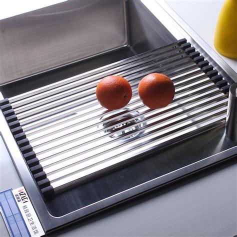 Customized Kitchen Sink Accessories Stainless Steel Rack