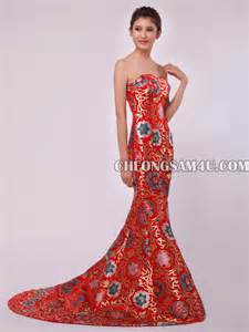 chapel sweetheart cheongsam qipao wedding dress - Cheongsam Wedding Dress