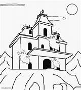 Haunted Coloring Pages Printable Colouring Cool2bkids Halloween Sheets Spooky sketch template