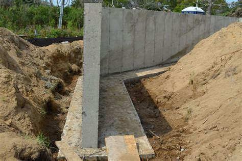 poured concrete retaining wall delta breezsignature ventilation fan