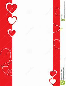 Red And White Hearts, Decorative Border Royalty Free Stock ...