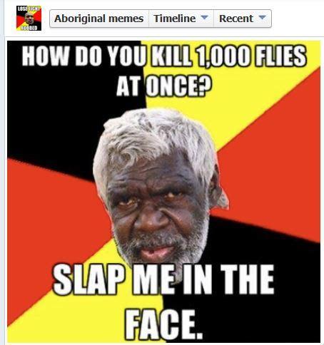 Aboriginal Meme - online hate prevention institute 187 facebook wix act on aboriginal memes
