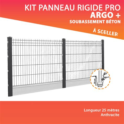 Kit Cloture Rigide Avec Soubassement Kit Panneau Rigide Doli Pro Soubassement Cl 244 Ture