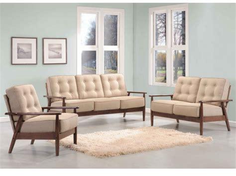 canapé et fauteuil canapés et fauteuil nacka en bois et tissu