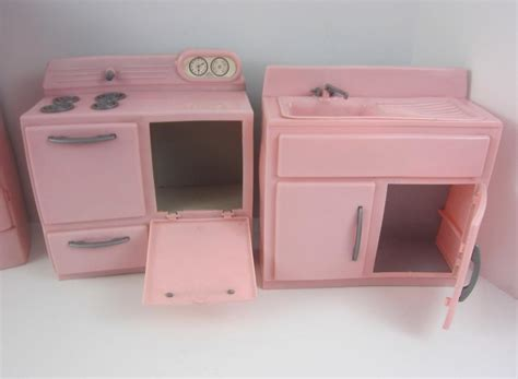 1950 kitchen furniture tico vintage 1950 39 s pink plastic 4p kitchen furniture set