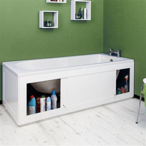 Bath Panel Cupboard by Croydex Unfold N Fit White Bath Panel Lockable Storage
