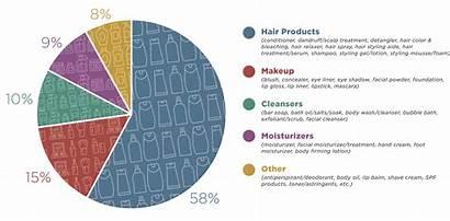 Cosmetics Market Choices Skin Chart Pie Percentage