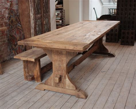 Wooden Tables For Sale by Distressed Oak Outdoor Dining Table Kc Work Reclaimed