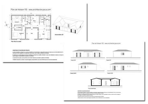 chambre provencale plan de maison en u type 4 98 m d 39 architecte 113 villa