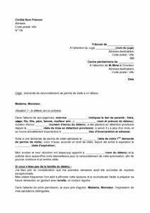 Renouvellement Permis E Périmé : lettre de demande de renouvellement de permis de visite un d tenu mod le de lettre gratuit ~ Medecine-chirurgie-esthetiques.com Avis de Voitures