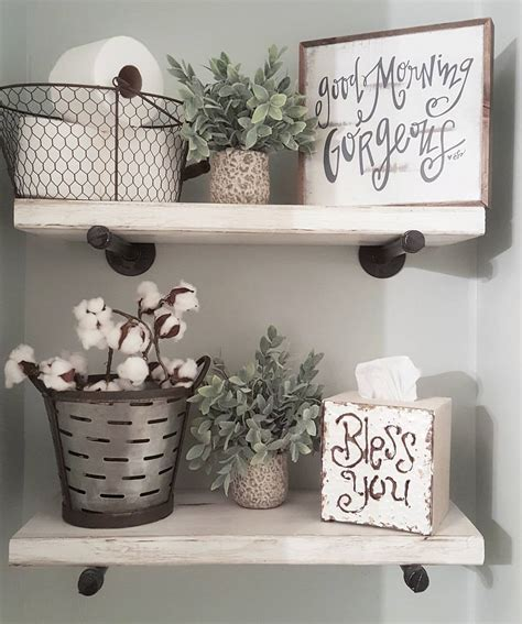 bathroom shelf decorating ideas see this instagram photo by blessed ranch 1 396 likes master bathroom pinterest ranch