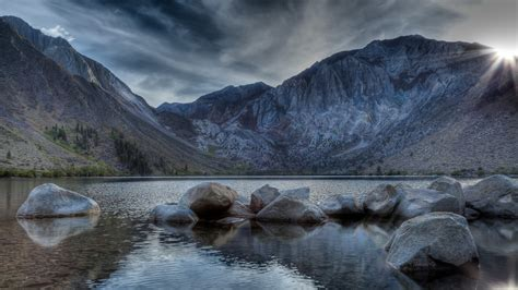 wallpaper convict lake mount morriso california