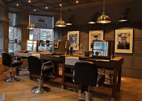 retro barber interior google search barber design