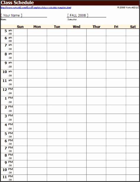 excel class schedule template 10 class schedule maker sletemplatess sletemplatess