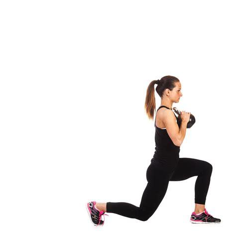 kettlebell lunge fitness leg workout