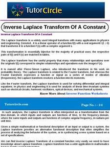 Inverse Laplace Transform Of A Constant